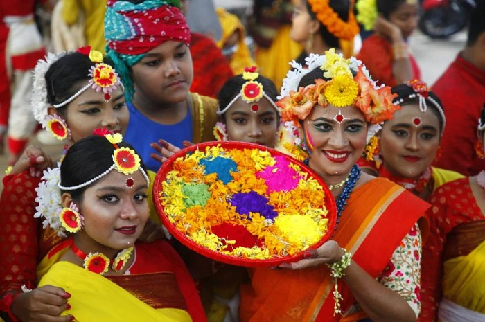 Pahela Falgun, Valentine's Day celebrated