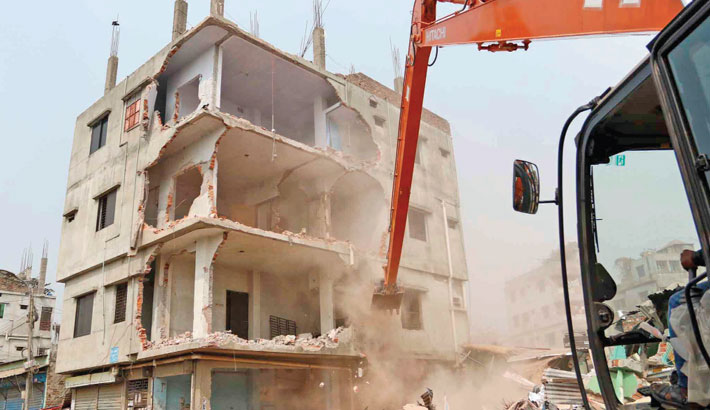 21 illegal structures demolished