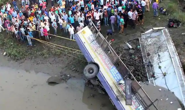 At least 37 dead in India bus accident: police