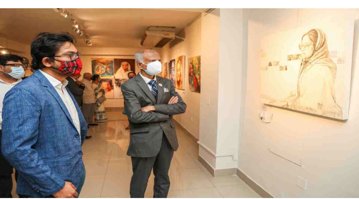 Two-month long art show on Sheikh Hasina ends with tributes to Bangabandhu