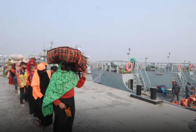 Another 1021 Rohingyas reach Bhasan Char