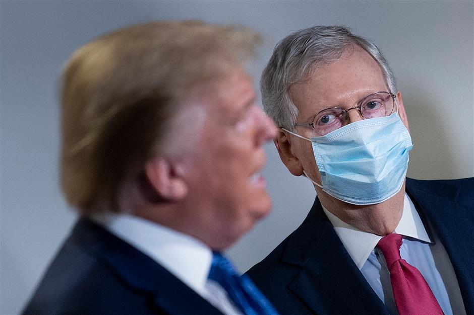 Trump urges Senate Republicans to dump McConnell