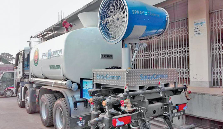 DNCC brings modern equipment for dust control in city