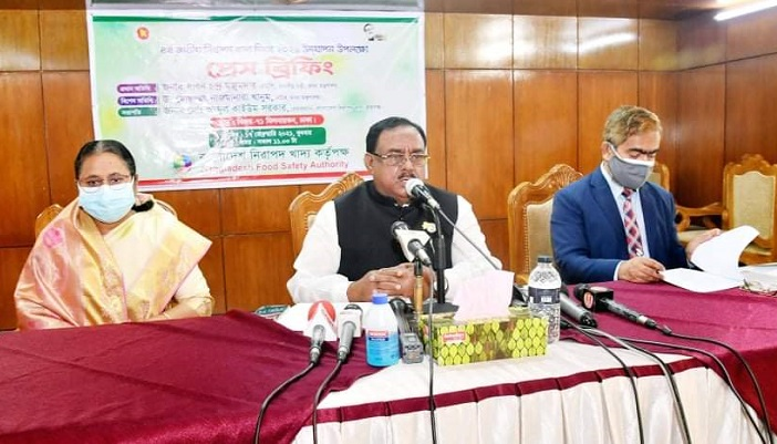 Food Minister Sadhon Chandra Majumdar calls for united efforts to ensure food safety
