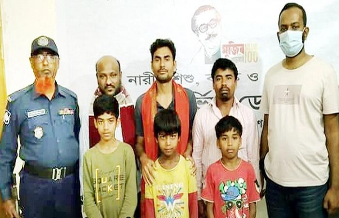3 children abducted from Cumilla rescued in Gazipur