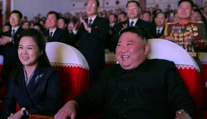 North Korean leader Kim Jong-un's wife makes first appearance in a year