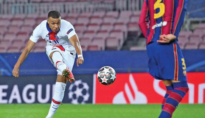 Mbappe hat-trick stuns Barca