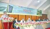A review meeting on implementation of different projects