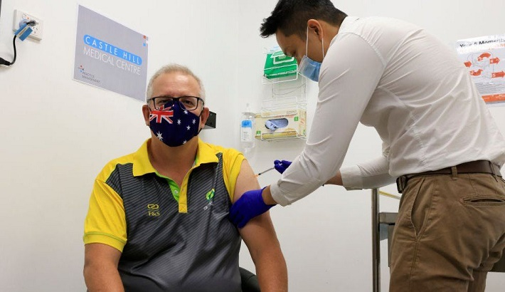 Australian PM is vaccinated as rollout begins