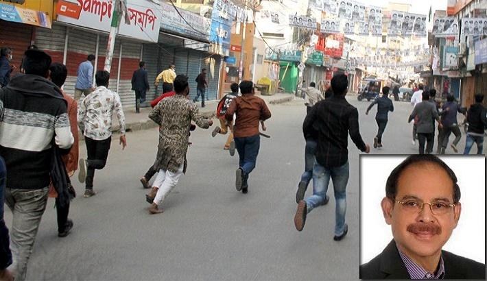 BNP MP Siraj comes under attack at Shaheed Minar in Bogura