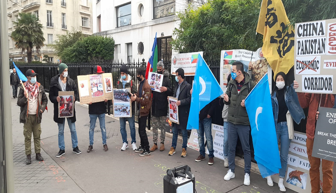 Exiled dissidents protest outside FATF headquarters to urge blacklisting Pakistan