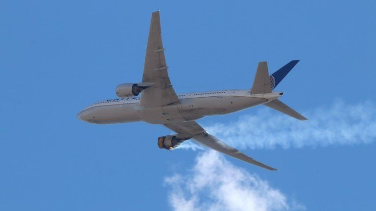 United Airlines grounds planes after engine failure