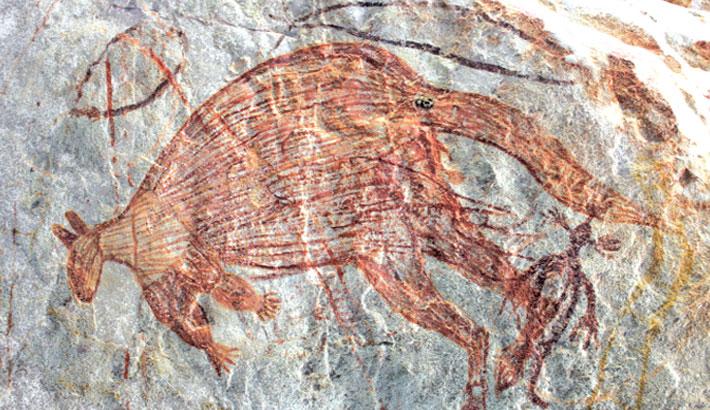17,000-year-old kangaroo is Australia's oldest rock art