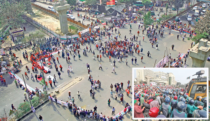 Offspring of FFs blocks Shahbagh