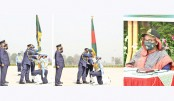 PM gives nat'l standard award to BAF squadrons