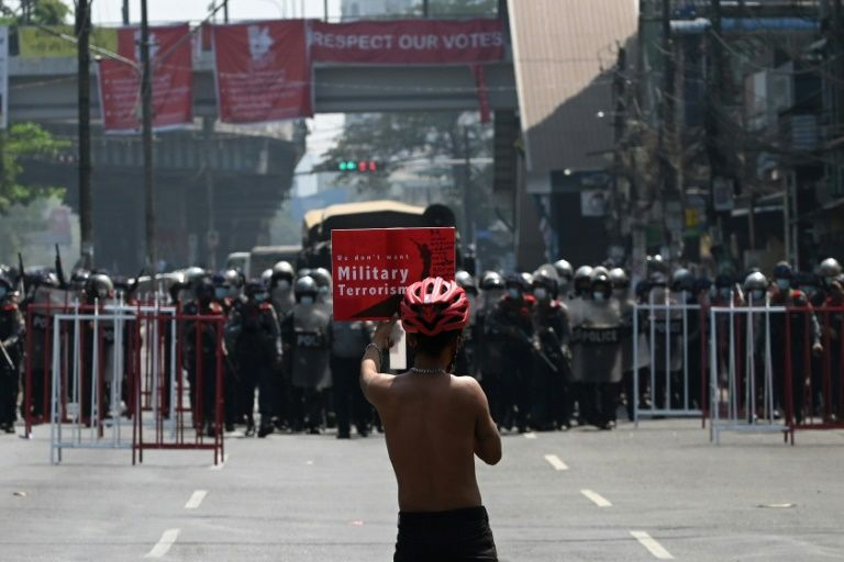 Fear and tension in Yangon as police clear protests