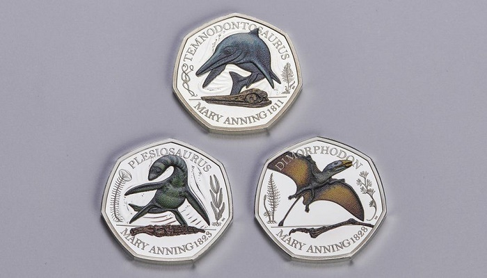 Mary Anning: Fossil hunter celebrated with Jurassic 50p coins