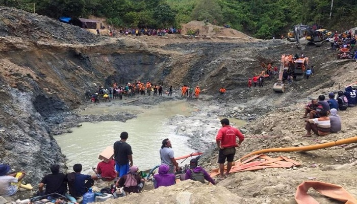 Indonesia hunts for missing after mine collapse kills six