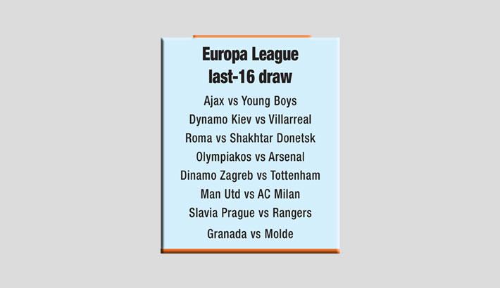 Arsenal, Man Utd into Europa League last 16