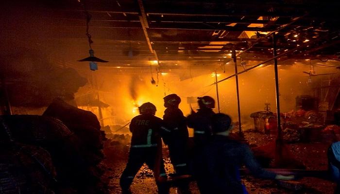 Karwan Bazar kitchen market fire under control