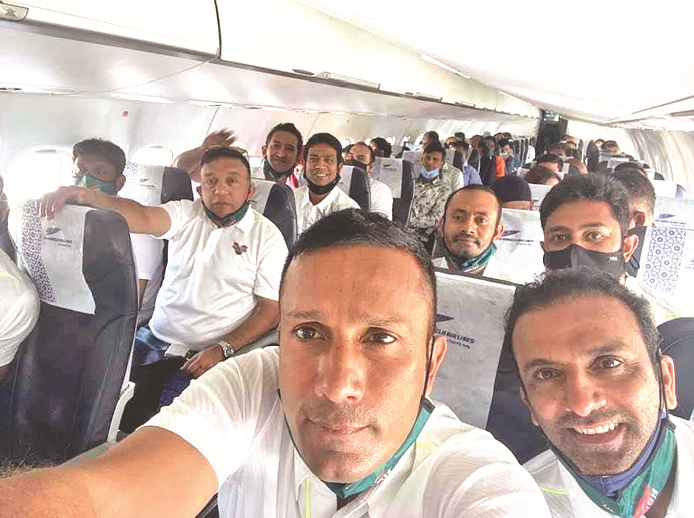 Bangladesh Legends leave for India