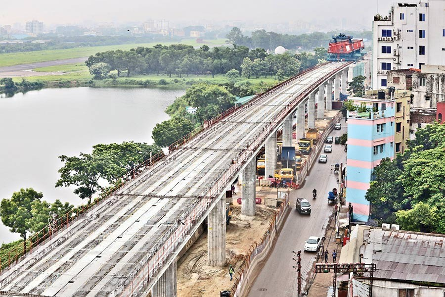 First phase of metro rail project now visible