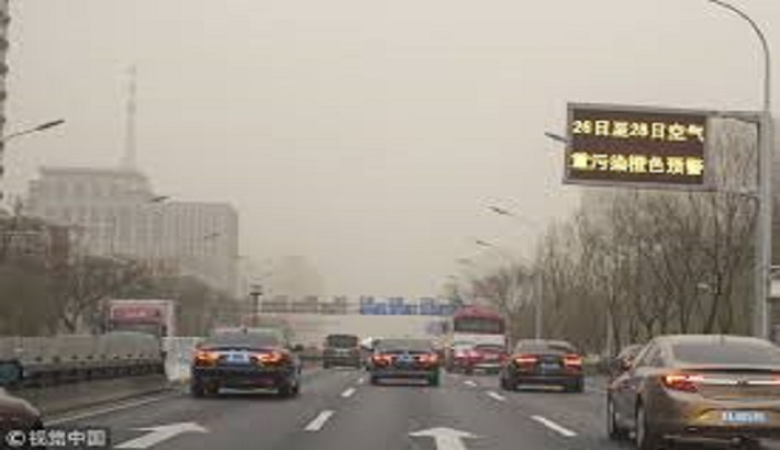 China issues blue alert for sandstorms