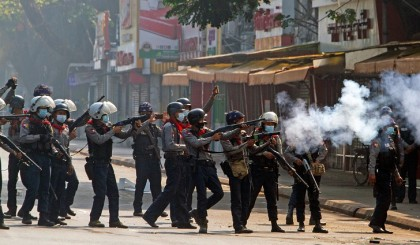 At least 18 Myanmar protesters shot dead in police crackdown