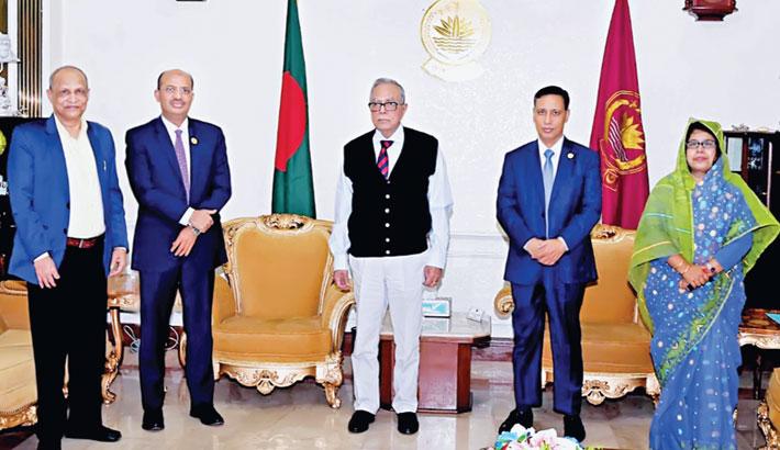 BKB Chairman meets President Abdul Hamid