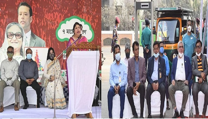 Speaker Dr Shirin Sharmin inaugurates screening of Bangabandhu's March-7 speech video