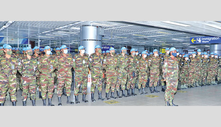 205 peacekeepers leave for Congo
