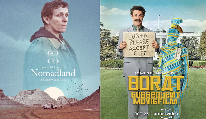 'Nomadland', 'Borat Subsequent Moviefilm' win top awards at Golden Globes