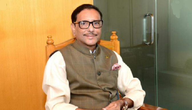 Quader condemns BNP's independence's function opening by 'a convict'