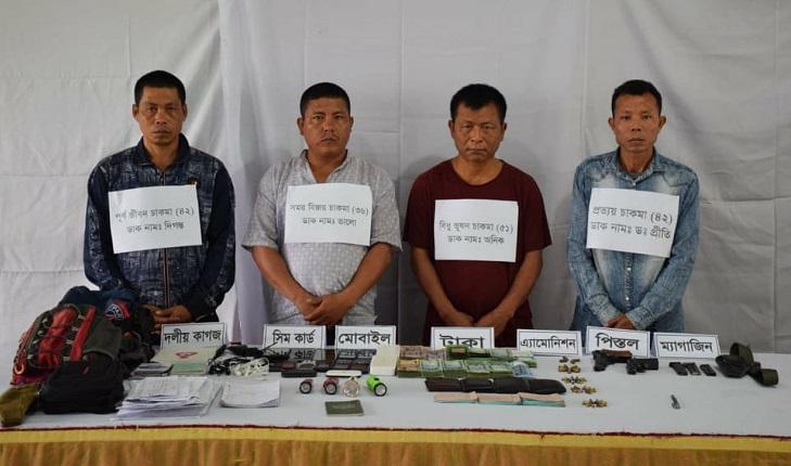 4 UPDF men held in Khagrachhari