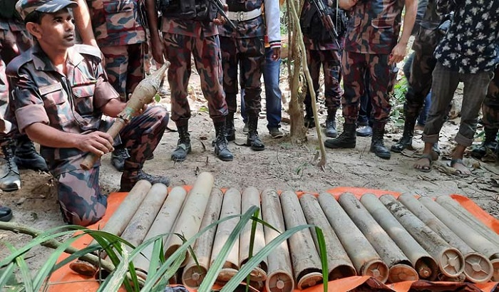 18 rocket shells recovered from Habiganj's Satchhari forest