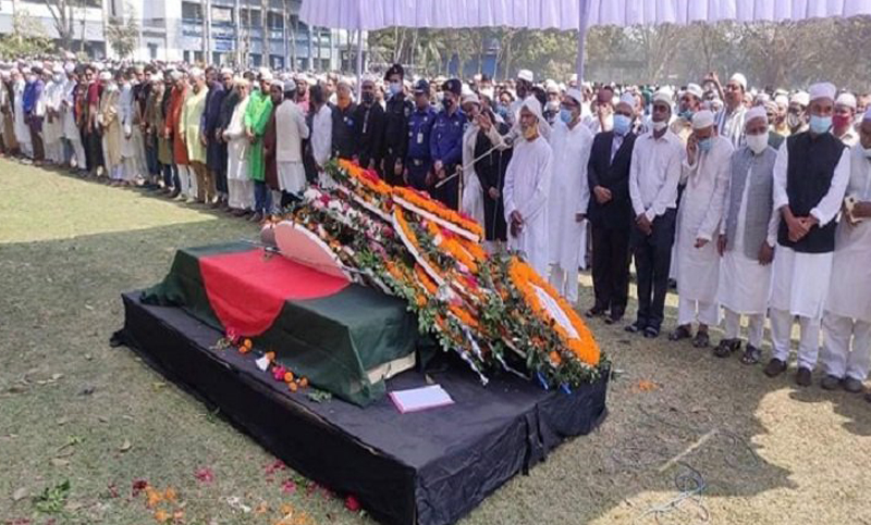 HT Imam's first Namaz-e-Janaza held in Sirajganj