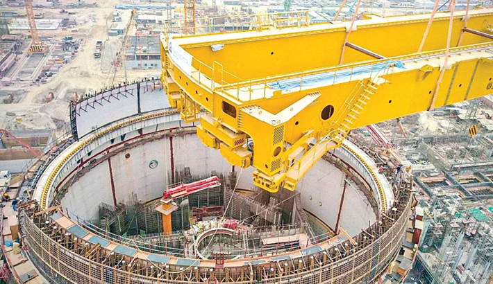 Polar crane beams installed at Rooppur NPP
