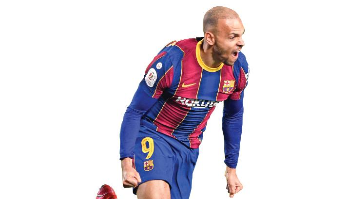 Braithwaite sends Barca to Spanish Cup final
