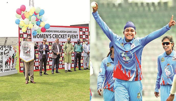 Fariha powers Bangladesh Blue to clinch first win