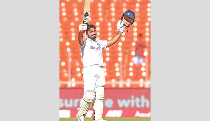 Pant's ton puts India on top