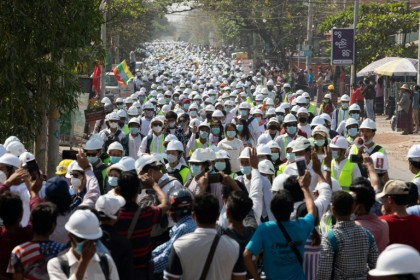 Anti-coup protests continue in Myanmar as UN urged to hear 'pleas'
