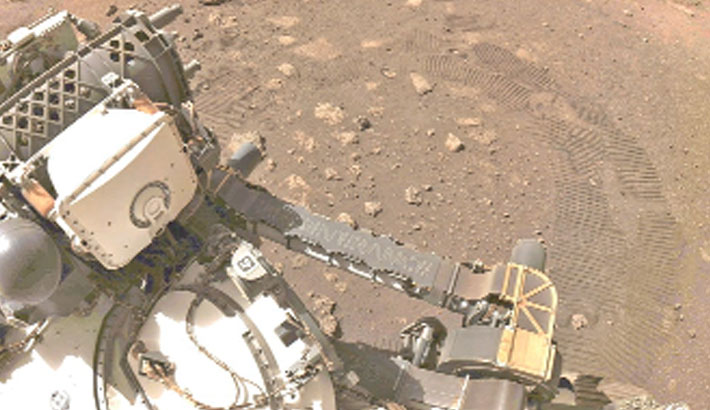 NASA's Perseverance conducts first test drive on Mars