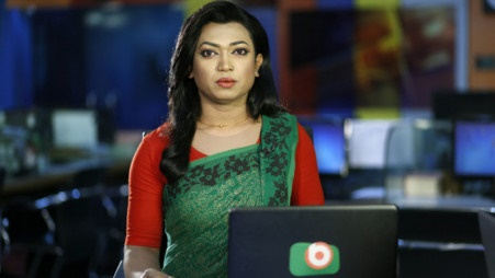 Transgender Shishir begins journey as news presenter