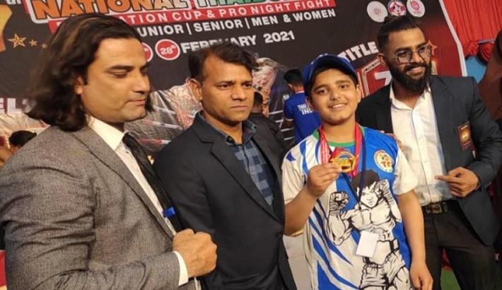 7th Thai Boxing National Championship: Ganderbal boy clinches Gold