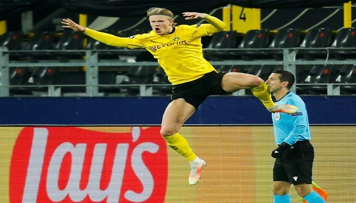 Haaland double fires Dortmund into Champions League quarter-finals