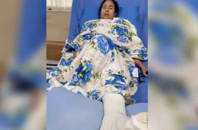Injured Bengal Chief Minister Mamata Banerjee appeals for calm