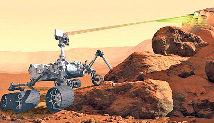 Mars rover listens to its rock-zapping laser