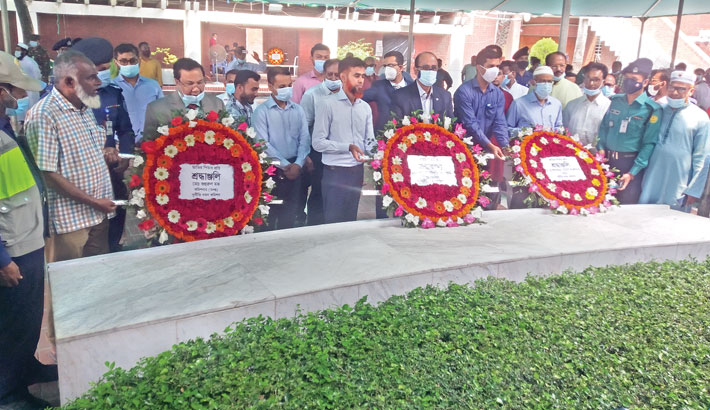 Along with others pays homage to Father of the Nation Bangabandhu Sheikh Mujibur Rahman