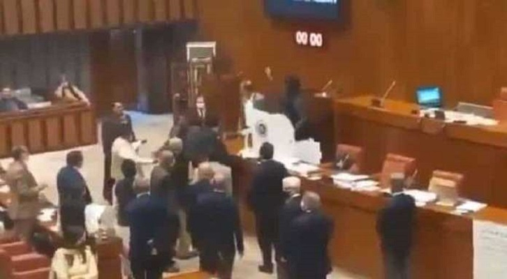 Massive furore in Pakistan Senate after the discovery of hidden Chinese spy cameras inside the hall