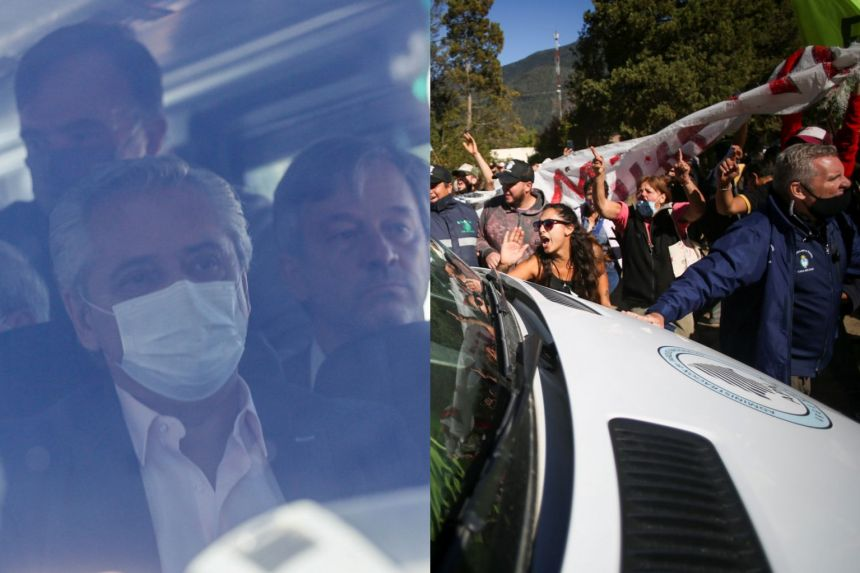 Protesters in Argentina attack bus carrying president